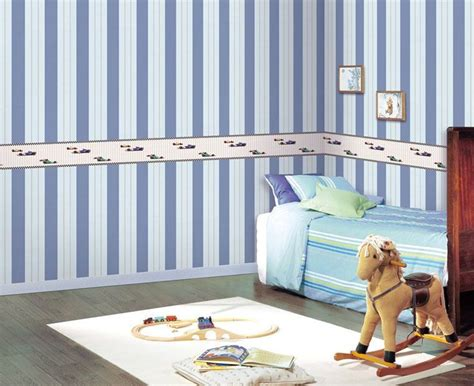 blue striped walls blue white striped walls car border interior design ideas