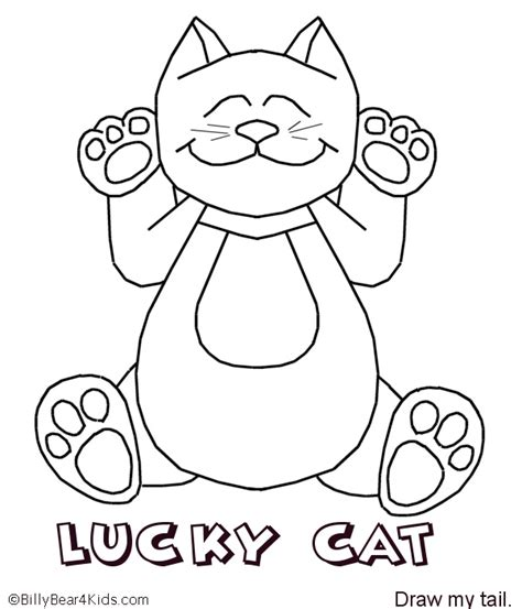 lucky cat coloring page pin lucky cat coloring page ajilbabcom portal on pinterest