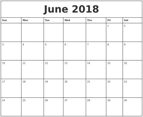 Free June 2018 Calendar Printable Blank Templates Word Pdf 2018 Calendar Blank Calendar Template Pdf