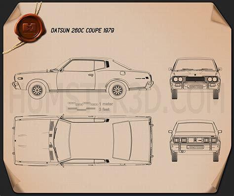 Blueprint Photo Paper 260 datsun 260c coupe 1976 blueprint hum3d