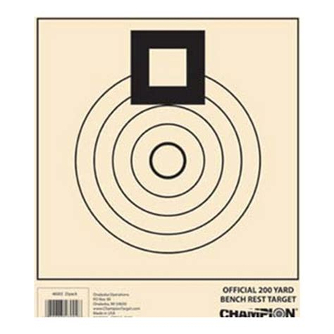 bench rest targets chion traps and targets benchrest target 200 yard