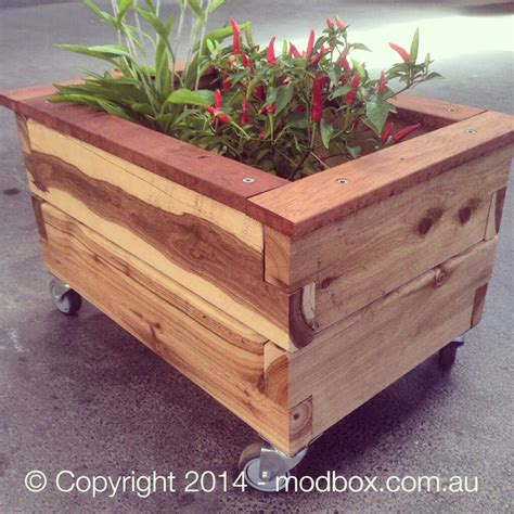 Planter Box With Wheels by The Modbox Raised Garden Beds Photo Gallery