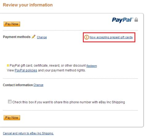 Gift Card On Paypal - paypal now lets you pay with prepaid debit cards