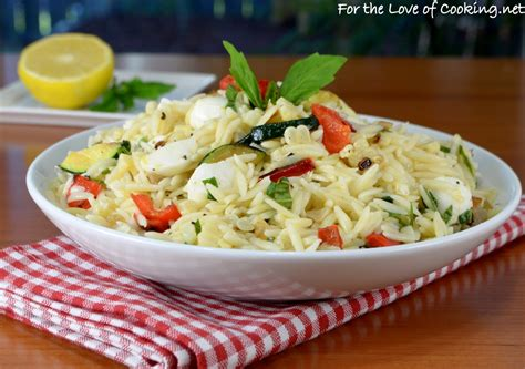 orzo pasta salad for the love of cooking