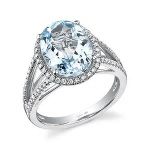 birthstone rings add march s birthstone aquamarine to your engagement ring