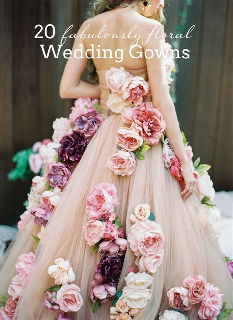 17 best ideas about floral wedding dresses on