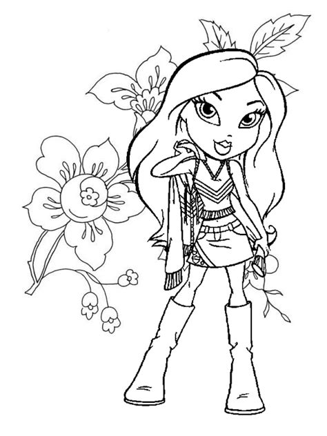 bratz coloring pages 1 coloring kids