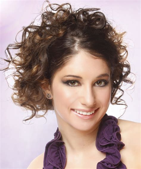 casual hairstyles for curly hair for school updo long curly casual updo hairstyle medium brunette
