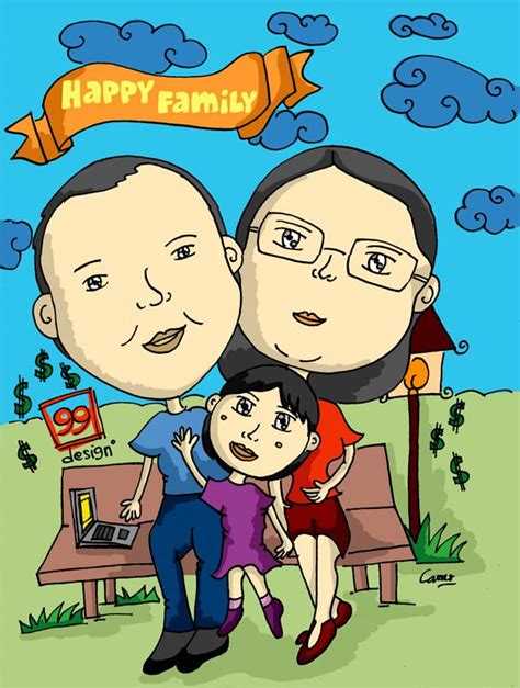 Happy Family 3 Karakter happy family karikatur unyu happy family