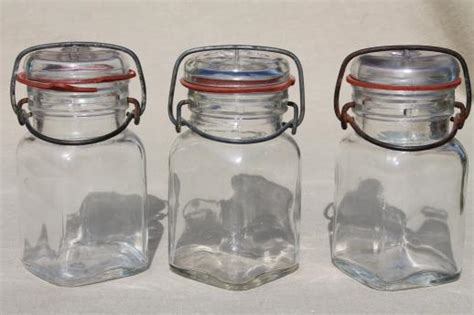 kitchen glass canisters with lids vintage small jars glass kitchen canisters w