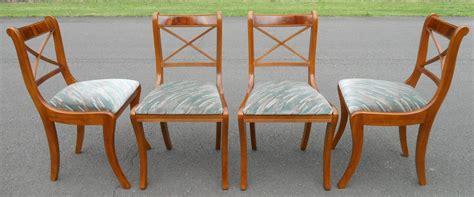 Yew Dining Room Furniture Set Of Four Sabre Leg Yew Dining Chairs Yew Dining Room Chairs