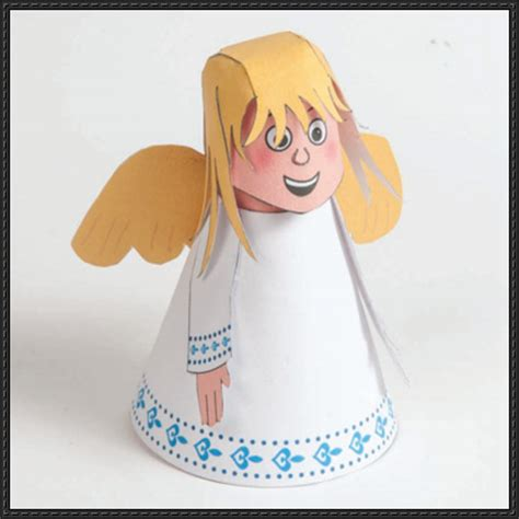 paper bag angel pattern papercraftsquare com new paper craft christmas
