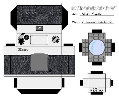 pentax camera cubeecraft by melopruppo on deviantart
