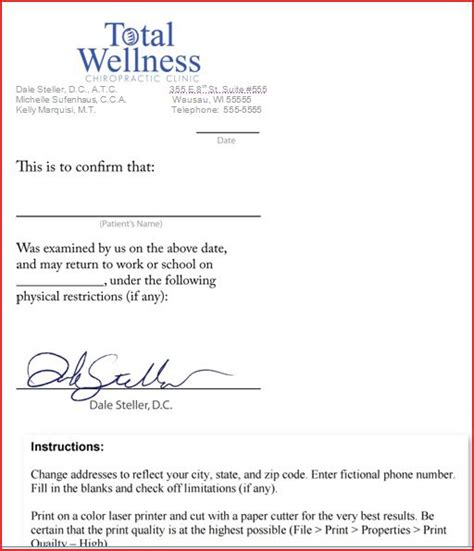 free fake doctors note template download will verizon