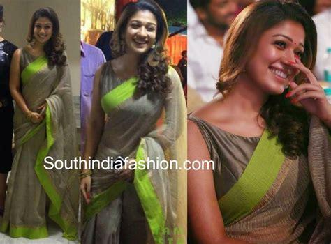 nayanthara boat neck blouse designs nayanthara at vijay tv awards 2014 sarees blouses