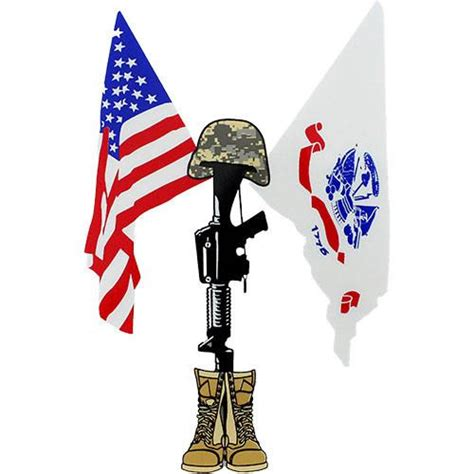 coolest cross army flag and u s army and u s flag with field cross clear decal usamm