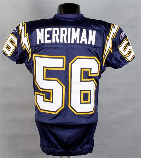 shawn chargers 2006 chargers shawn merriman worn pre season home