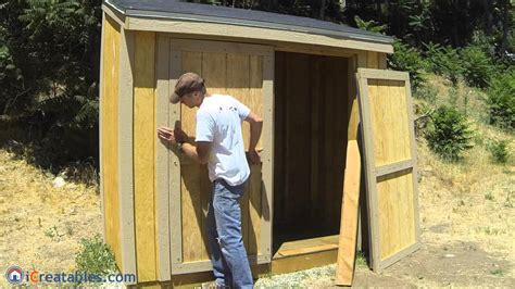 How To Hang Shed Doors by How To Build A Lean To Shed Part 8 Door Build