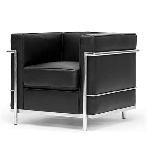 Modern Sleek Design by Black Le Corbusier Style Chair