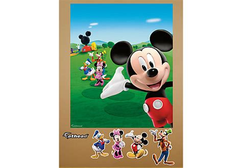 mickey mouse clubhouse wall mural picture of mickey mouse clubhouse mural fathead wall decal from wall decor furniture