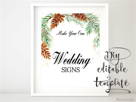 8x10 Quot Diy Printable Sign Template For Word Make Your Own Wedding Si Blursbyai Diy Wedding Signs Templates