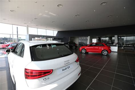 audi dealership inside look inside the retail car plaza in llandudno