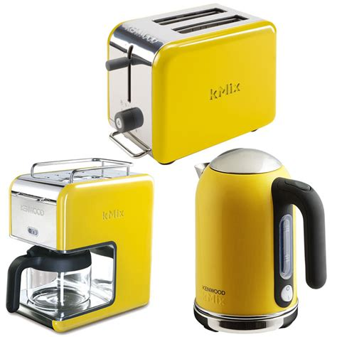 Yellow Kitchen Appliances | new yellow kenwood kmix boutique kettle stylish modern