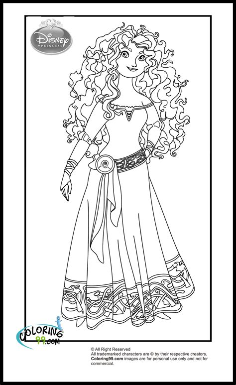 princess merida coloring page disney princess coloring pages team colors