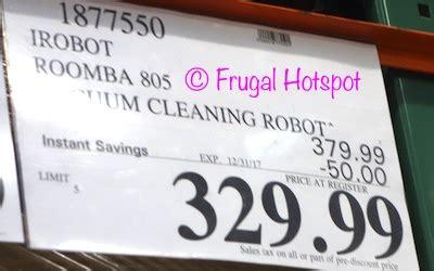 costco sale: irobot roomba 805 vacuum cleaning robot $344