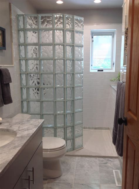 how to select a shape for your glass block shower wall