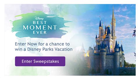 Disney World Vacation Giveaway 2014 - enter to win disney s best moment ever sweepstakes