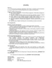 Resume Sles For Graduate School Career Objective Resume Mba Fresher