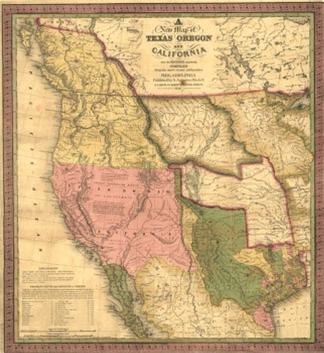 map of western united states historic map of the western united states 1846
