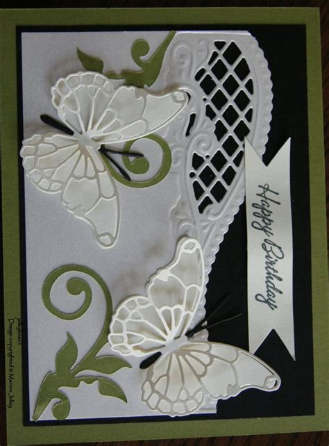 Handmade Die Cut Cards - 17 best images about marianne creatables designs on