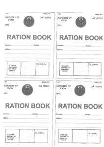 rationing book template wwii ration book template kent