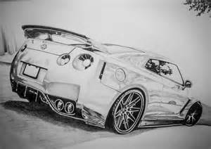 Nissan Gtr Drawing Nissan Gt R Drawing By Dannyhouse On Deviantart