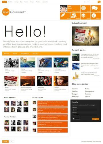 themes like facebook create a website like facebook with wordpress onecommunity