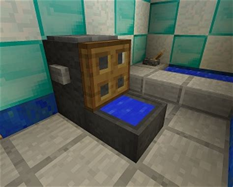How To Make A Shower On Minecraft Pe by Minecraft Furniture Bathroom