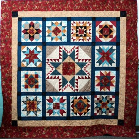 Teal Patchwork Quilt - throw quilt quilted wall hanging sler teal