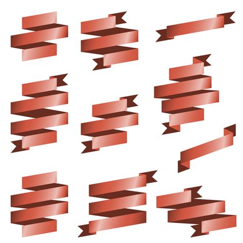 Origami Materials - origami ribbon vectors material 03 vector ribbon free