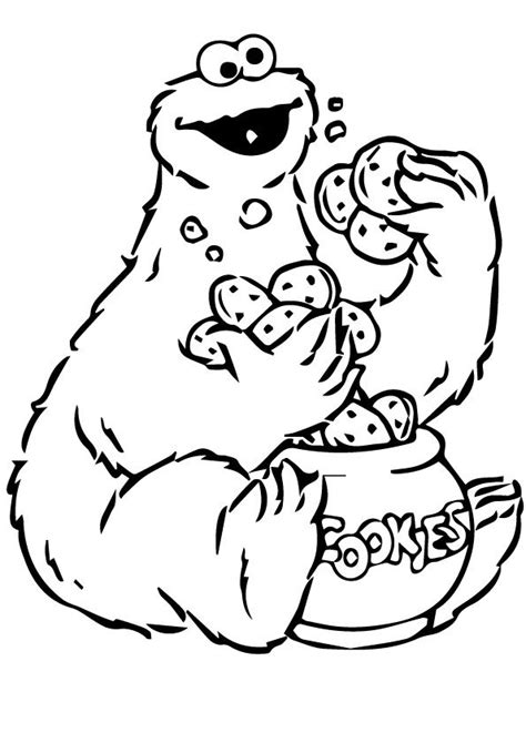 love monster coloring pages 72 best cookie monster bday theme images on pinterest