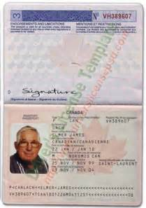 Canadian Passport Template by Drivers License Drivers License Drivers License