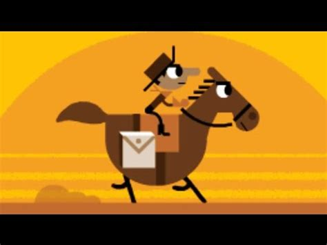 play doodle pony express doodle for today 155th anniversary of the pony