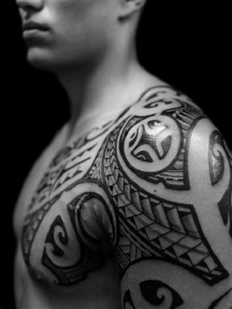 tribal tattoo hd hd tribal chest shoulder tattoos best design