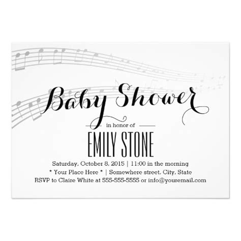 Simple Baby Shower Invites by Simple And Musical Baby Shower Invites
