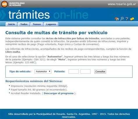 municipalidad de rosario consultar multas transito municipalidad rosario 1