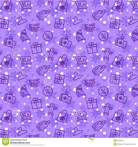seamless pattern with shopping icons winter sale and shopping seamless pattern stock vector