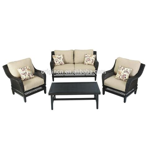 best quality patio furniture top quality 4pc rattan chair and loveseat set with