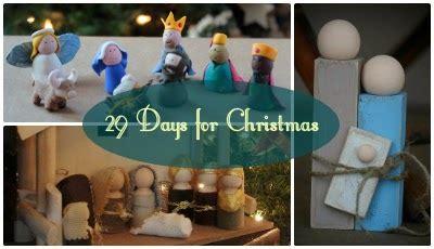 christmas countdown: 29 days ~ 6 creative nativity ideas