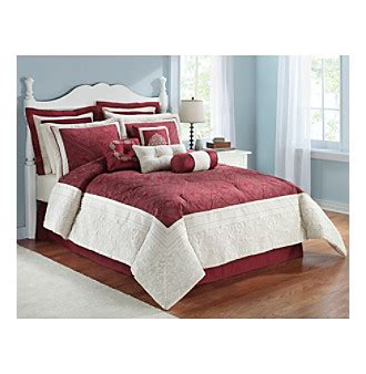 Dinaya Set Maroon 05 maroon 10 pc comforter set by livingquarters and king size bedroom sets